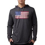 American Flag Mens Hooded Shirt