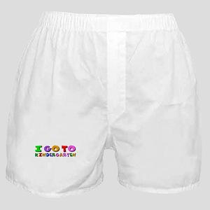I go to kindergarten Boxer Shorts