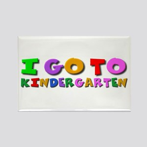 I go to kindergarten Rectangle Magnet
