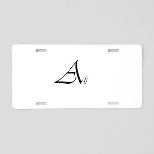 Ali Aluminum License Plate