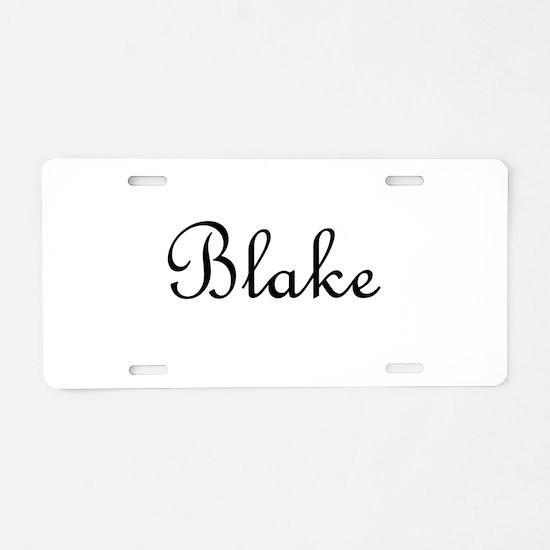 Blake.png Aluminum License Plate