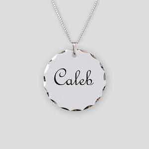 Caleb Necklace Circle Charm