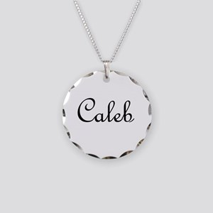 Caleb.png Necklace Circle Charm