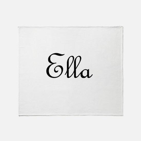 Ella.png Throw Blanket