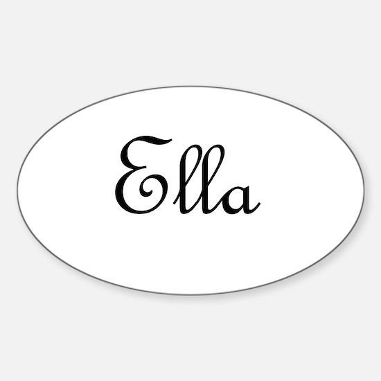 Ella.png Sticker (Oval)