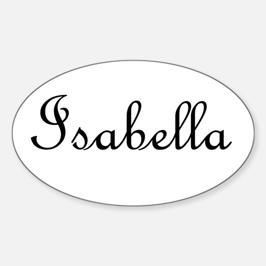 Isabella.png Sticker (Oval)
