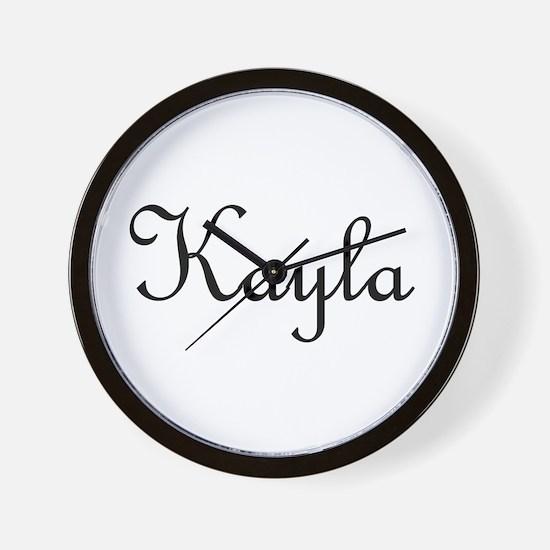 Kayla.png Wall Clock
