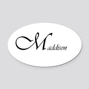 Maddison Oval Car Magnet