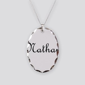 Nathan Necklace Oval Charm