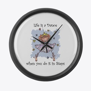 Life is a DANCE~2000x2000P.png Large Wall Clock