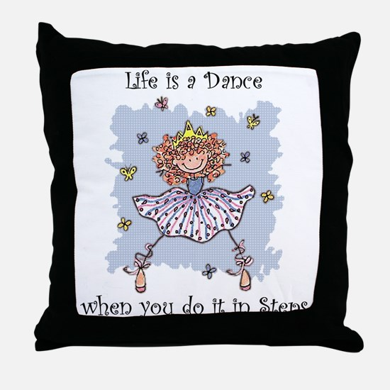 Life is a DANCE~2000x2000P.png Throw Pillow