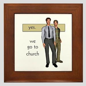 Gay Christian Framed Tile