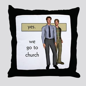Gay Christian Throw Pillow