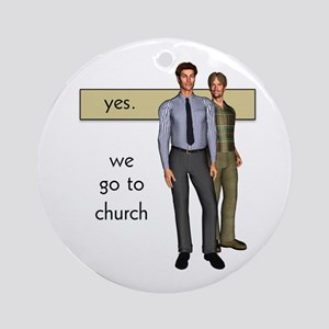 Gay Christian Ornament (Round)