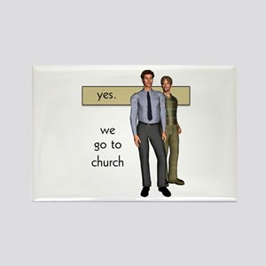 Gay Christian Rectangle Magnet
