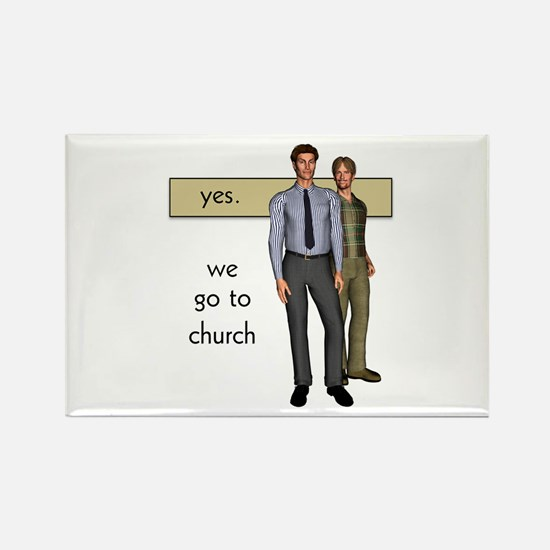 Gay Christian Rectangle Magnet