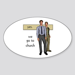 Gay Christian Oval Sticker