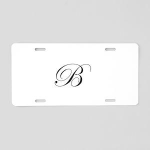 Edwardian Script-B Aluminum License Plate