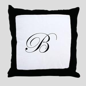Edwardian Script-B Throw Pillow