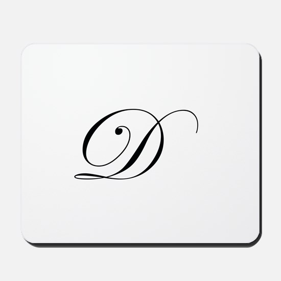 Edwardian Script-D.png Mousepad