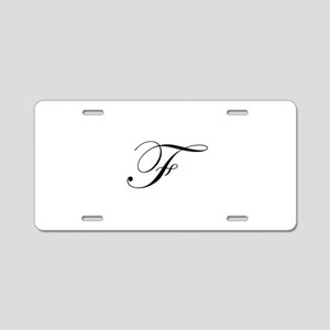 Edwardian Script-F Aluminum License Plate