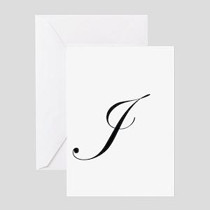 Edwardian Script-J Greeting Card