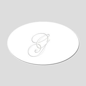 Edwardian Script-G White 20x12 Oval Wall Decal