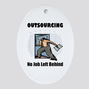 Outsourcing Oval Ornament