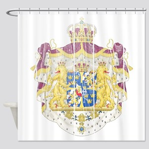 Sweden Coat Of Arms Shower Curtain