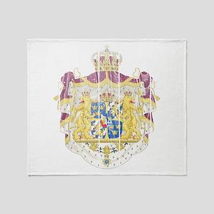 Sweden Coat Of Arms Throw Blanket