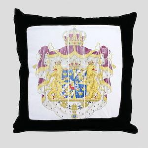 Sweden Coat Of Arms Throw Pillow