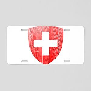 Switzerland Coat Of Arms Aluminum License Plate