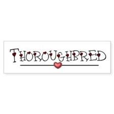 Heart Thoroughbred Bumper Sticker