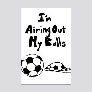 I'm Airing Out My Balls funny shirt Mini Poster Pr