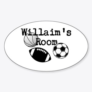 Williams Room Sticker (Oval)