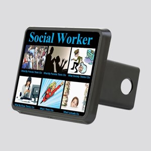 Social-Work-Funny Rectangular Hitch Cover