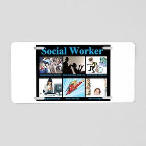 Social-Work-Funny Aluminum License Plate