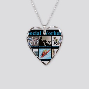 Social-Work-Funny Necklace Heart Charm