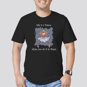 Life is a Dance Men's Fitted T-Shirt (dark)