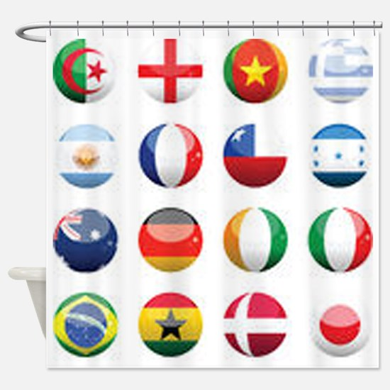 World Cup Soccer Balls Shower Curtain