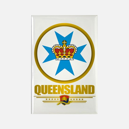 Queensland Emblem Rectangle Magnet