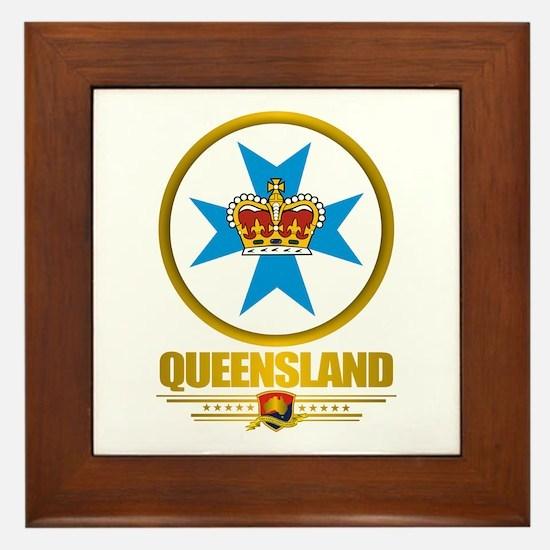 Queensland Emblem Framed Tile