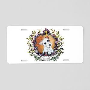 Vintage Jack Russell Terrier Aluminum License Plat