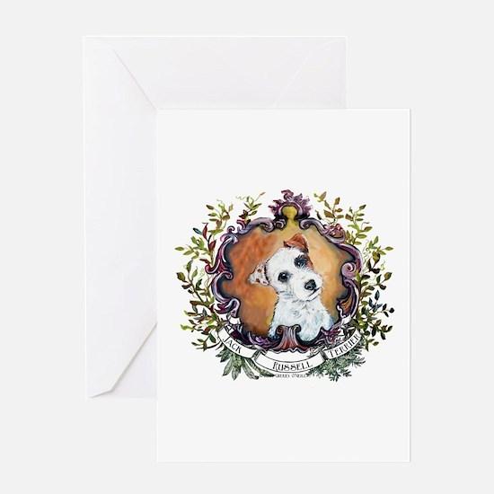 Vintage Jack Russell Terrier Greeting Card