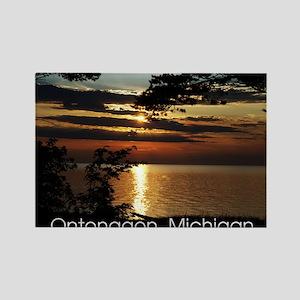 Ontonagon, Michigan Sunset Rectangle Magnet