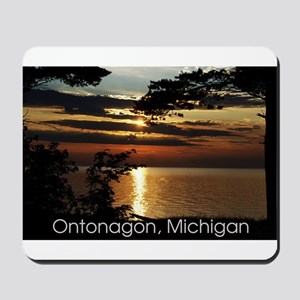 Ontonagon, Michigan Sunset Mousepad