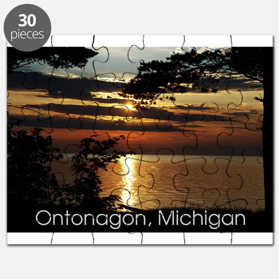 Ontonagon, Michigan Sunset Puzzle