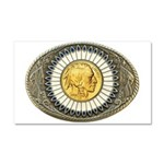 Indian gold oval 3 Car Magnet 20 x 12