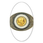 Indian gold oval 3 Sticker (Oval 50 pk)