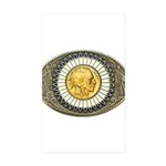 Indian gold oval 3 Sticker (Rectangle 10 pk)